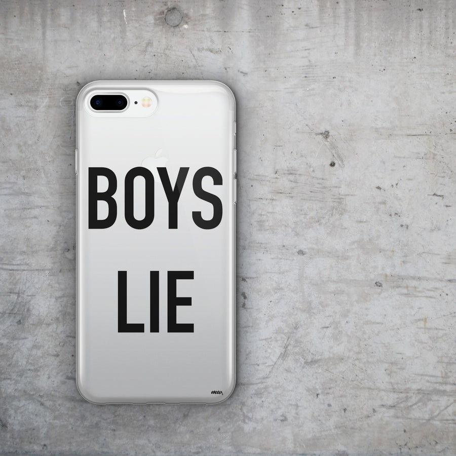 Boys Lie - Clear Case Cover - Milkyway Cases -  iPhone - Samsung - Clear Cut Silicone Phone Case Cover