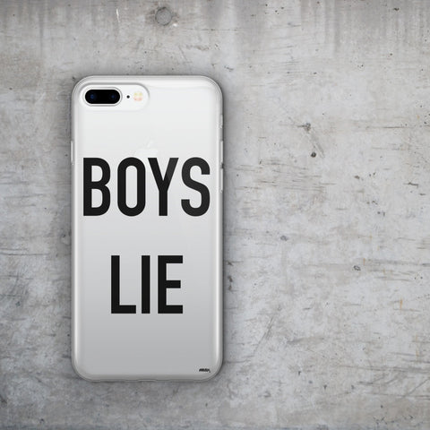 'Boys Lie' - Clear TPU Case Cover