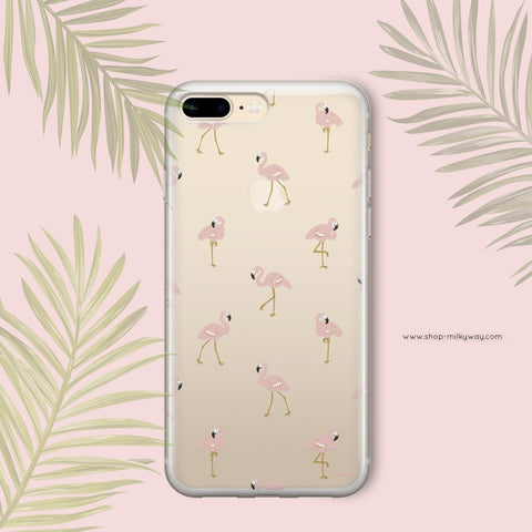 'Chillin Flamingo' - Clear TPU Case Cover