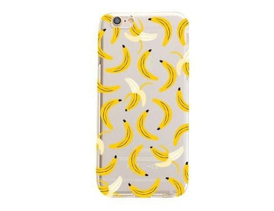 Banana Overload - Clear TPU Case Cover - Milkyway Cases -  iPhone - Samsung - Clear Cut Silicone Phone Case Cover