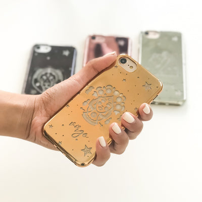 Chrome Shiny TPU Case - Virgo - Milkyway Cases -  iPhone - Samsung - Clear Cut Silicone Phone Case Cover