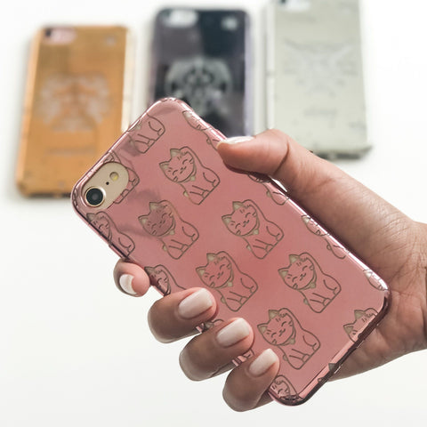 Chrome TPU Case - Lucky Cat