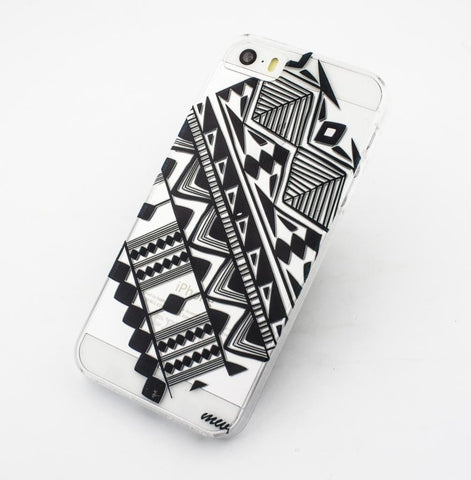 Sideways Aztec - Clear TPU Case Cover