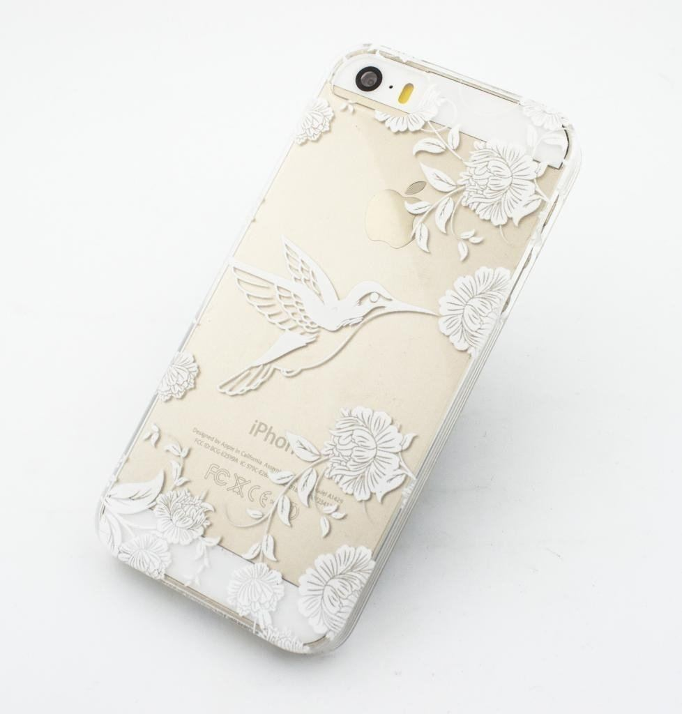 Vintage Hummingbird - Clear TPU Case Cover