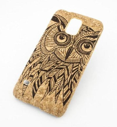 Cork Case Snap On Cover - KWAGO OWL - Milkyway Cases -  iPhone - Samsung - Clear Cute Silicone Phone Case Cover