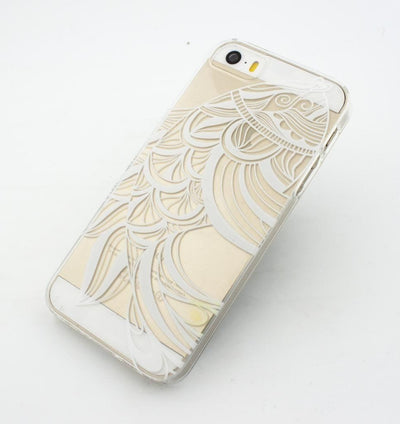 Henna Tribal Fish - Clear TPU Case Cover Milkyway iPhone Samsung Clear Cute Silicone 8 Plus 7 X Cover