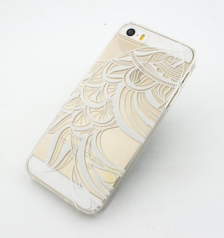 Henna Tribal Fish - Clear TPU Case Cover