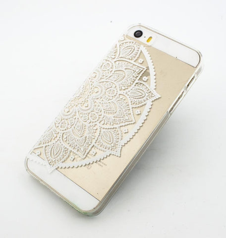 Henna Lotus Mandala - Clear TPU Case Cover