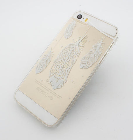 Henna Hanging Feathers - Clear TPU Case Cover