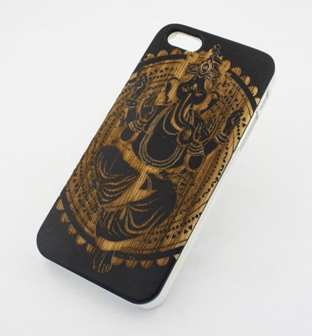 Black Bamboo Wood Case - Ganesh Queen