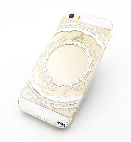 Floral Lace Mandala - Clear TPU Case Cover