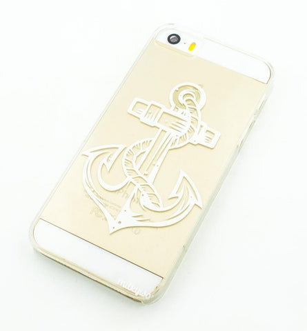 Nautical Anchor - Clear TPU Case Cover