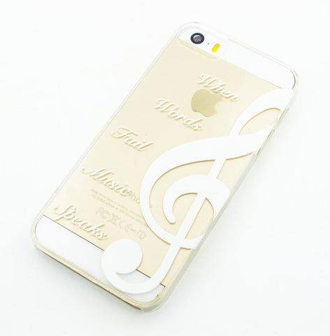 When Words Fail Music Speaks - Clear TPU Case Cover