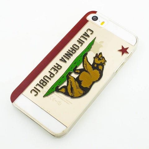 California Republic - Clear TPU Case Cover