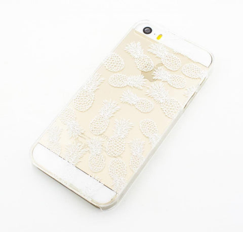 Henna White Pineapple Overload - Clear TPU Case Cover