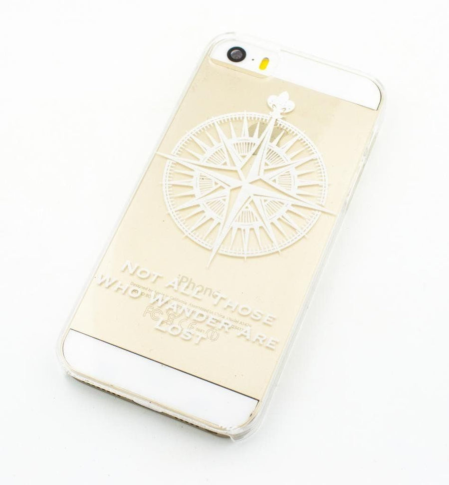 Not All Those Who Wander Are Lost / Compass - Clear TPU Case Cover