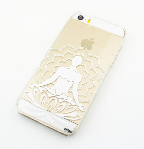 Lotus Meditating Buddha - Clear TPU Case Cover