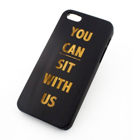 Black Bamboo Wood Case - You Can Sit With Us