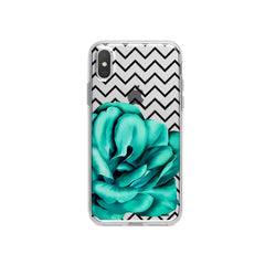 Blue Camelia iPhone X Case Clear