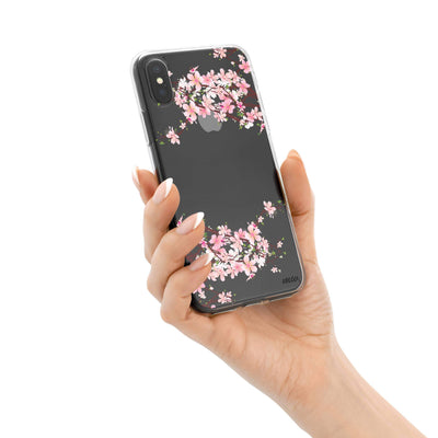 Cherry Blossom iPhone X Case Clear