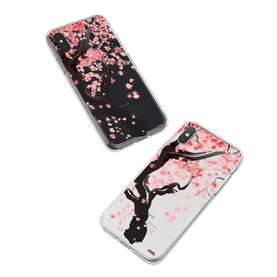 Cherry Blossom Tree iPhone X Case Clear