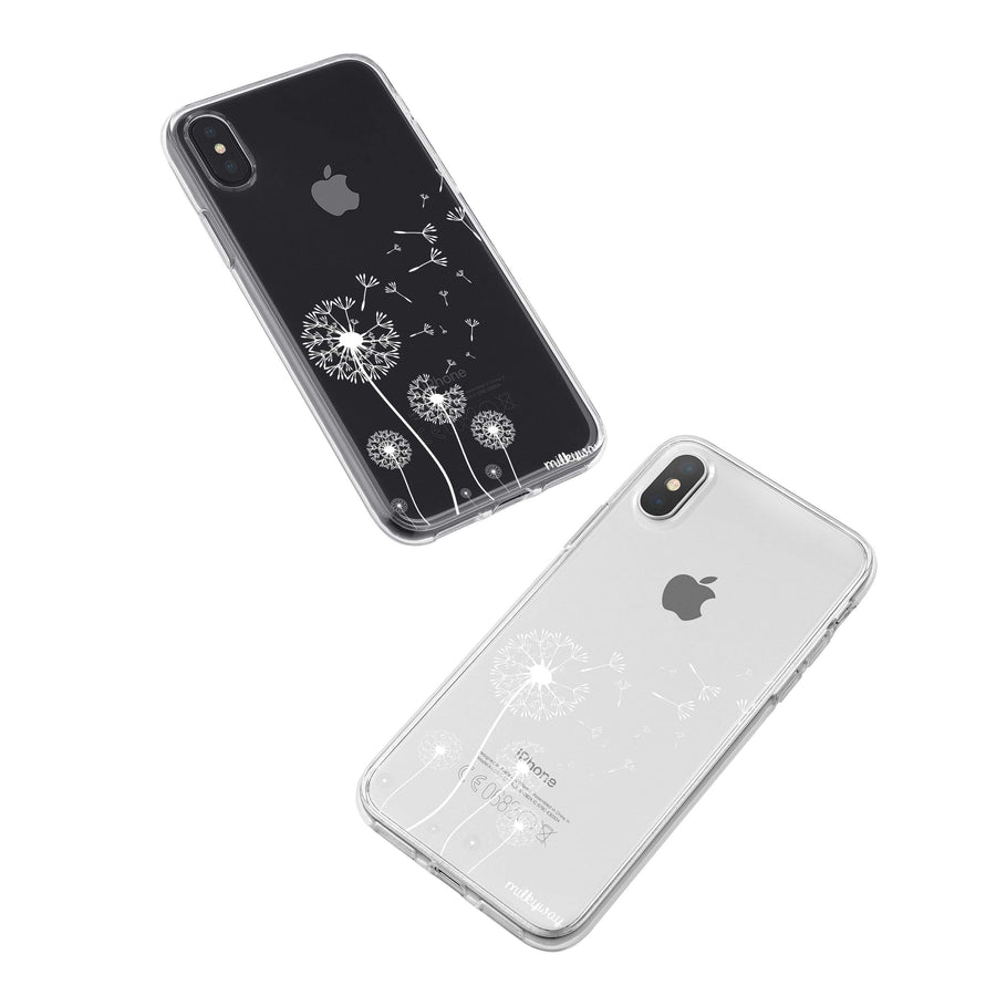 Dandelion iPhone X Case Clear