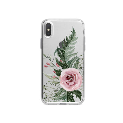 Dusty Pink Rose iPhone X Case Clear