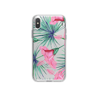 Exotic Hibuscus iPhone X Case Clear