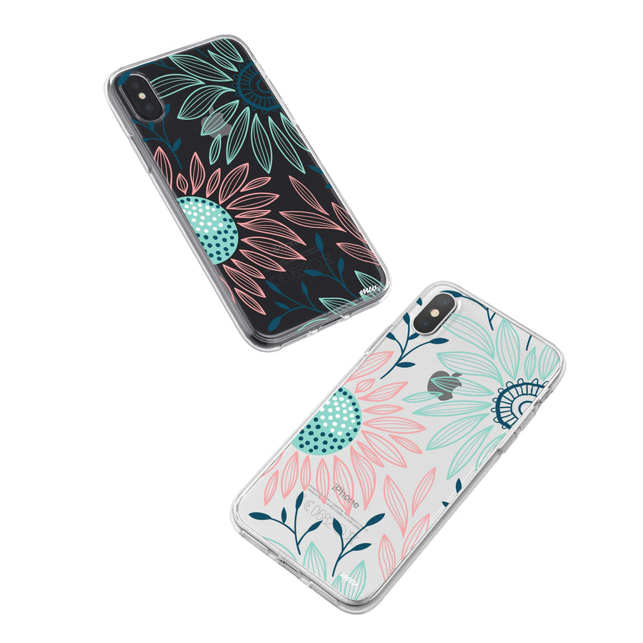 Floral Patch iPhone X Case Clear
