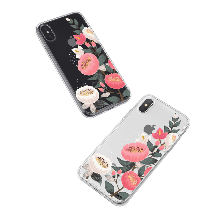 Laurel Floral iPhone X Case Clear