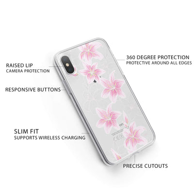 Lily Beth iPhone X Case Clear