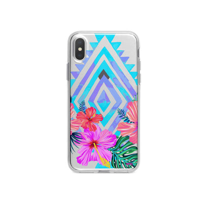 Navajo Hibiscus iPhone X Case Clear