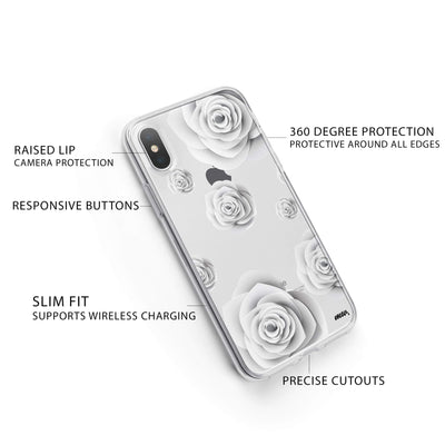 Paper Rose iPhone X Case Clear