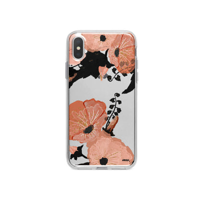 Peachy Floral iPhone X Case Clear