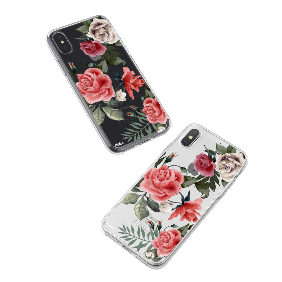 Petals iPhone X Case Clear