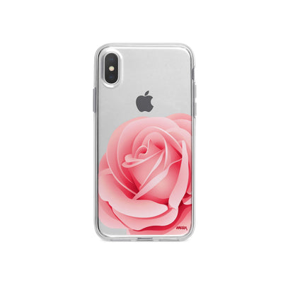 Pink Rose iPhone X Case Clear
