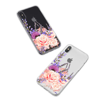 Purple Botanica iPhone X Case Clear