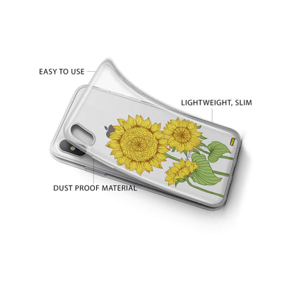 Sunny Sunflower iPhone X Case Clear