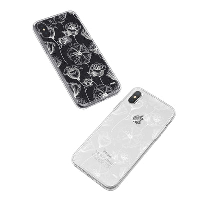 Tulip Garden iPhone X Case Clear