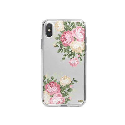 Vintage Roses iPhone X Case Clear