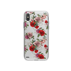 Watercolor Floral Pattern iPhone X Case Clear