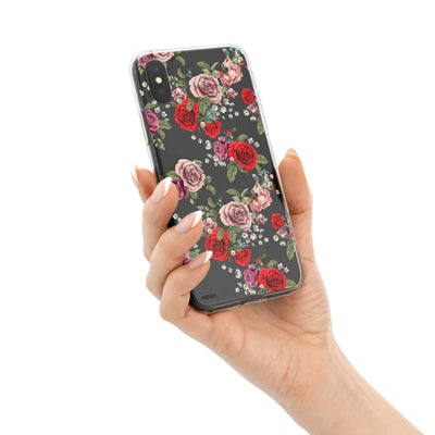 Watercolor Floral Pattern iPhone X Case Clear Milkyway iPhone Samsung Clear Cute Silicone 8 Plus 7 X Cover