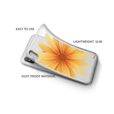 Yellow Daisy iPhone X Case Clear