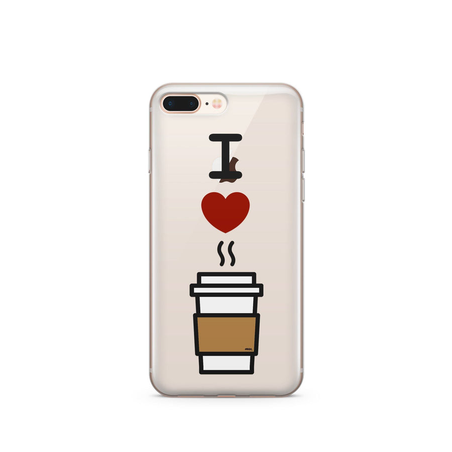 I Love Coffee - Clear TPU Case Cover - Milkyway Cases -  iPhone - Samsung - Clear Cut Silicone Phone Case Cover