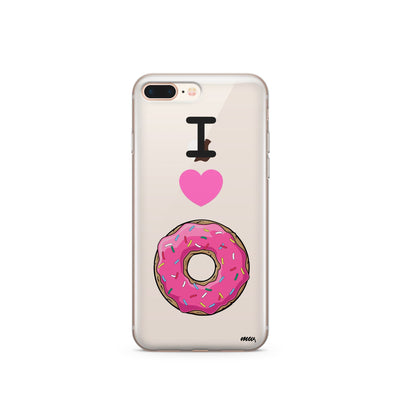 I Love Donuts - Clear TPU Case Cover - Milkyway Cases -  iPhone - Samsung - Clear Cut Silicone Phone Case Cover