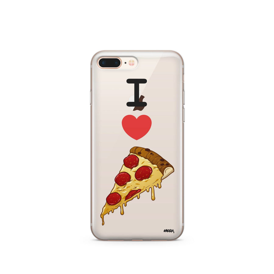 I Love Pizza - Clear TPU Case Cover