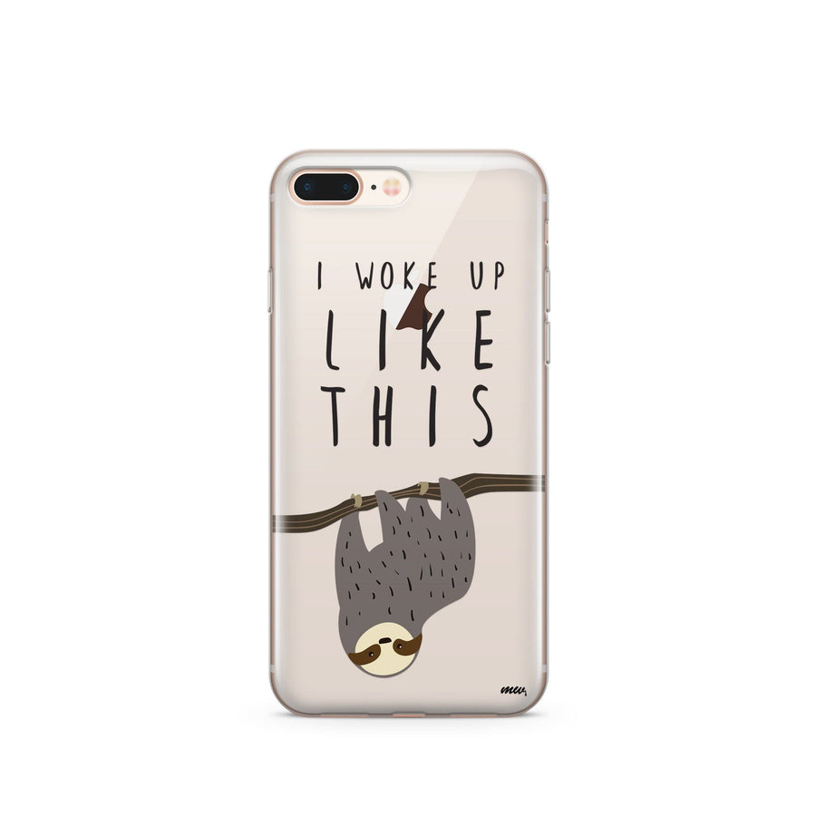 I Woke Up Like This - Clear TPU Case Cover - Milkyway Cases -  iPhone - Samsung - Clear Cut Silicone Phone Case Cover