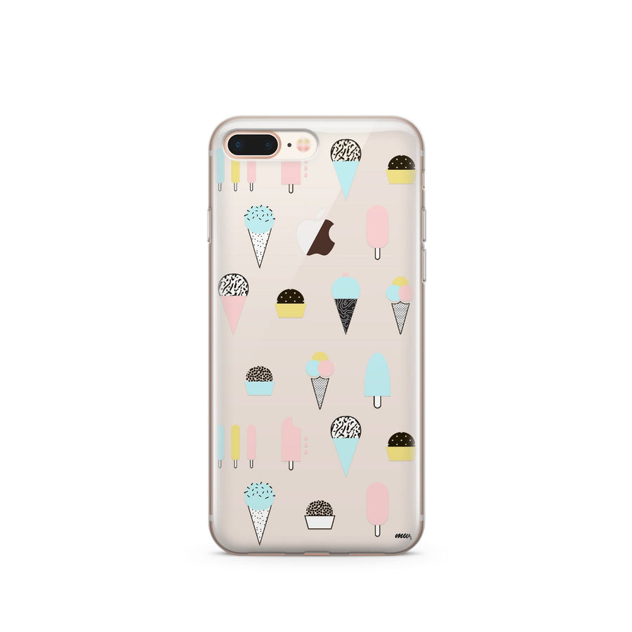 Ice Cream Medley - Clear Case Cover - Milkyway Cases -  iPhone - Samsung - Clear Cut Silicone Phone Case Cover
