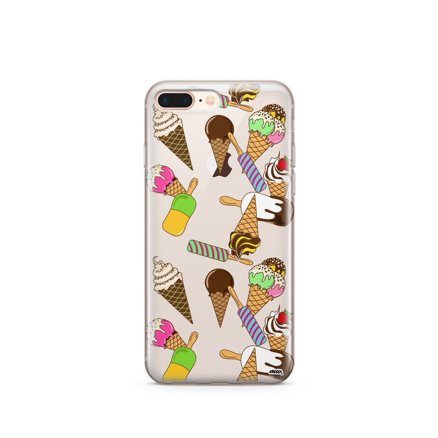 Ice Cream Pandemonium - Clear TPU Case Cover - Milkyway Cases -  iPhone - Samsung - Clear Cut Silicone Phone Case Cover