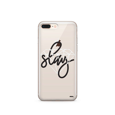 Iced Slay- Clear Case Cover - Milkyway Cases -  iPhone - Samsung - Clear Cut Silicone Phone Case Cover